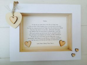 Shabby Personalised Chic Box Frame Gift Granddaughter Grandson Grandchildren Etc